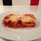 Gorgonzola and chorizo lasagne